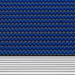 Buitenmat Hamat Outline Blauw 010 (Borstelmat)