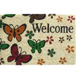 Hamat Ruco Classic Welcome 40 x 60 cm | Kokosmat met tekst & Vlinders