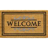 Hamat Ruco Classic Welcome 40 x 70 cm | Naturel kokosmat met tekst