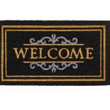 Hamat Ruco Classic Welcome 40 x 70 cm | Zwarte kokosmat met tekst