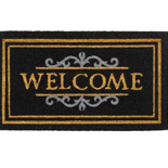 Hamat Ruco Classic Welcome 40 x 70 cm | Kokosmat met tekst Zwart